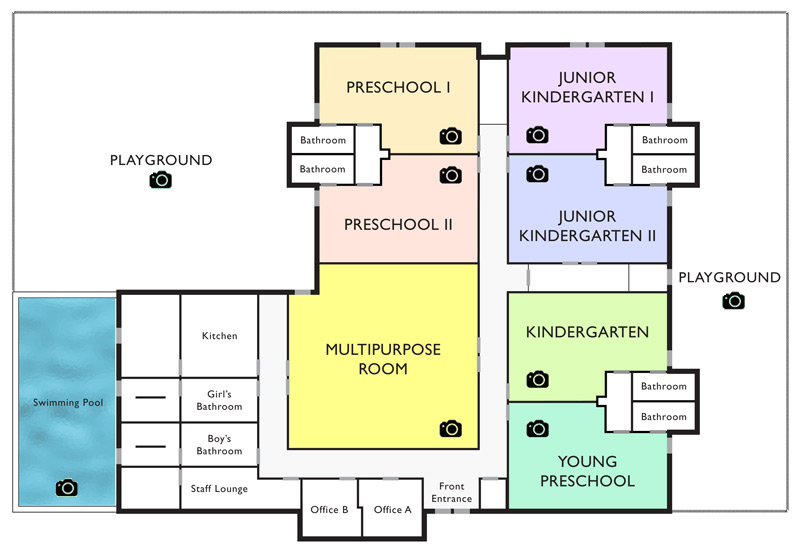 Good beginnings school virginia campus facility for Small daycare floor plans